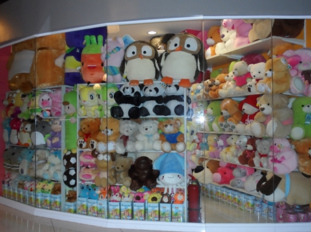 Various stuffed toys