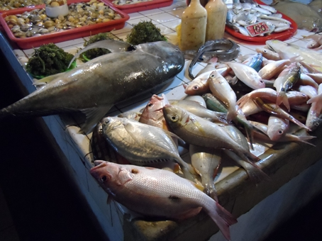 Wet market fish