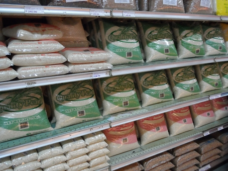 Prepacked rice in supermarkets ...