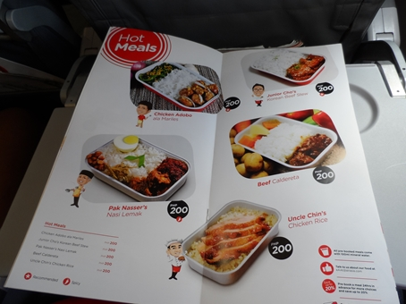 In-flight hot meals