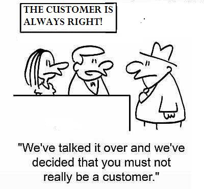The customer is…