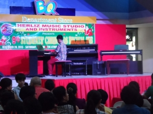A piano student on a recital...