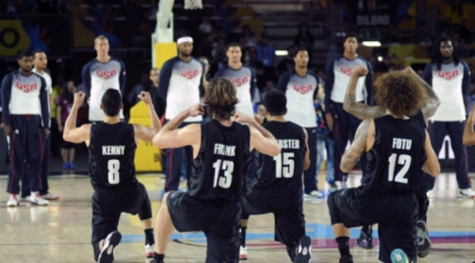 YouTube Review: New Zealand's Haka vs USA – FIBA 2014