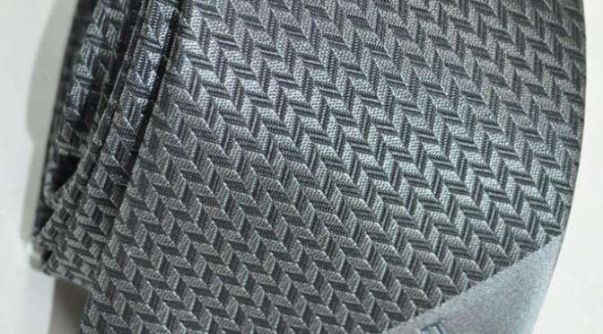 Gift Ideas: Armani Tie Gray Herringbone Logo
