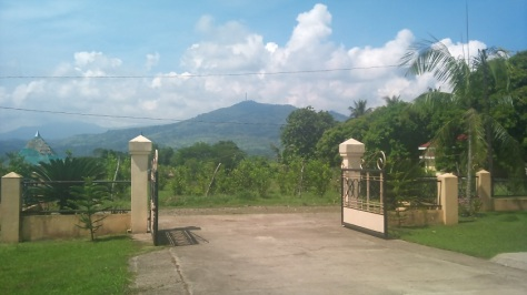 The entrance to the property...