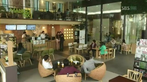 Inside Mango Six Cafe...