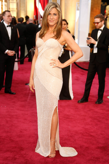 Jennifer Aniston in a Versace