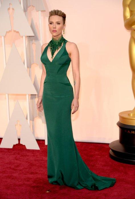 Scarlett Johansson in a Versace