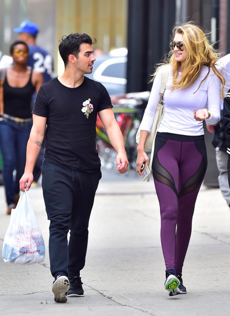 Joe Jonas and Gigi Hadid in Soho