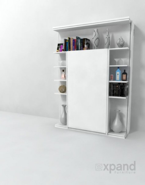 Italian Wall Bed - Revolving Bookcase