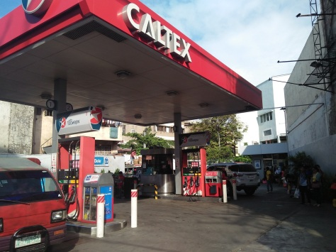 Caltex gas station where you got to wait