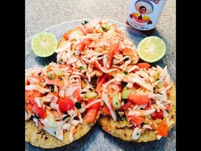 Food & How To: Crab Meat Tostadas (Mexican)