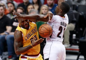 December 26: Cavs losing to the Blazers, 76-105 (Photo: AP)