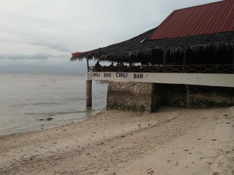 Beach view, outside the resto