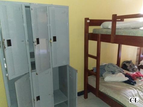 Lockers inside the room, male dorm