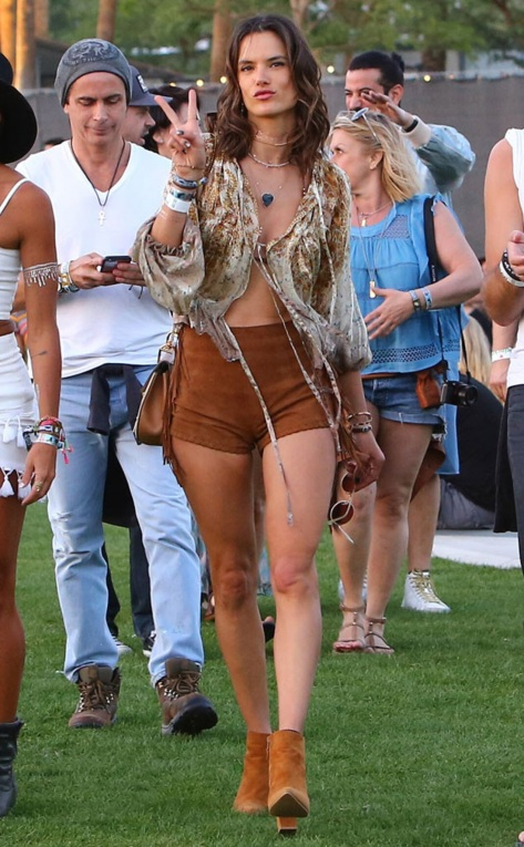 Alessandra Ambrosio at the Coachella Music Festival in Indio, Calif.