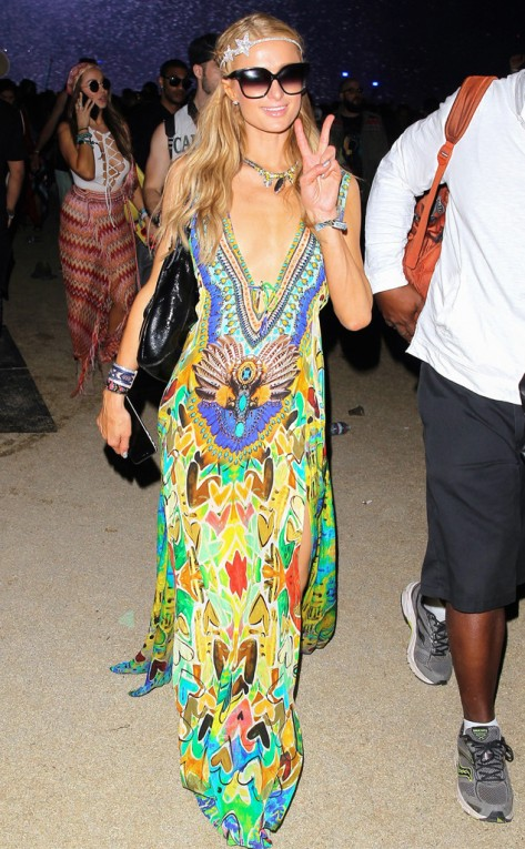 Paris Hilton at the Coachella in Indio, Calif.