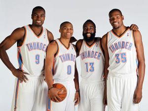 OKC fab four (Photo by Layne Murdoch/NBAE via Getty Images)