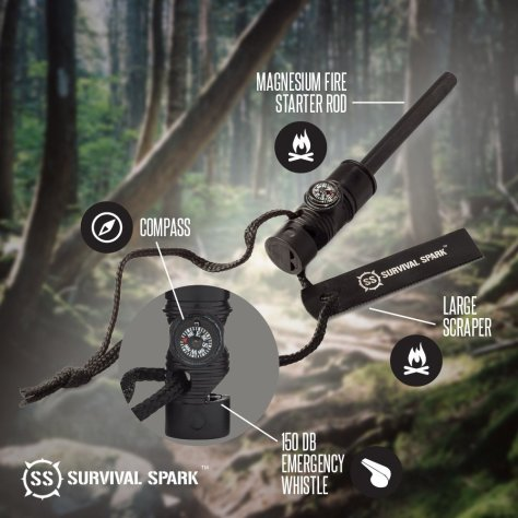 Sharp Survival Emergency Magnesium Fire Starter