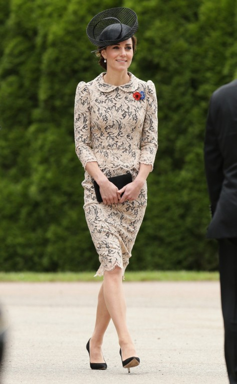 Kate Middleton in Thiepval, France