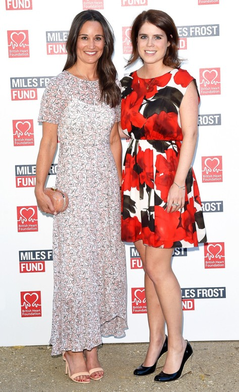 Pippa Middleton and Princess Eugenie (Photo by David M. Benett/Dave Benett/Getty Images for British Heart Foundation)
