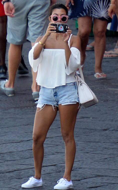 Kourtney Kardashian in Italy