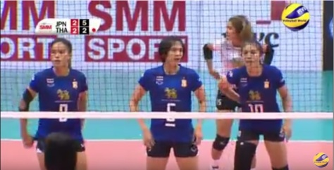 The Thais just got lost from late in the 4th set onwards