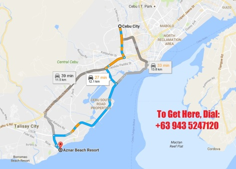 Getting to Aznar Beach Resort