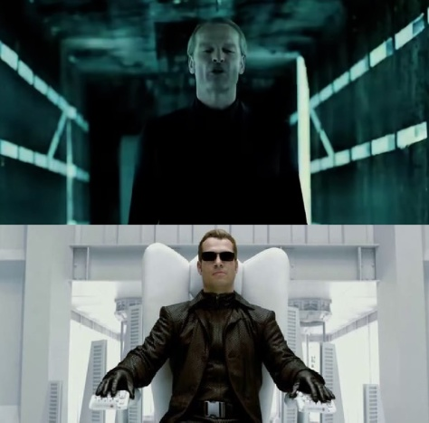 Dr. Isaacs (above) and Albert Wesker (below)